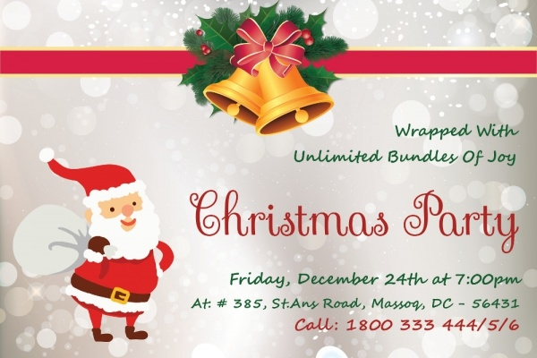 Christmas Party Invitation Card PSD