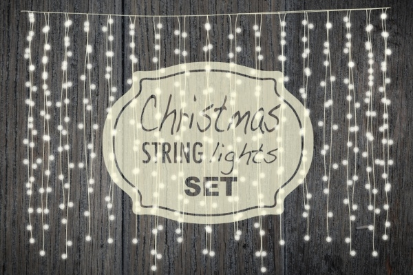 Christmas String Lights Invitation