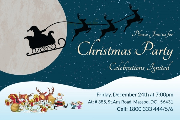 Christmas party Invitation Card2