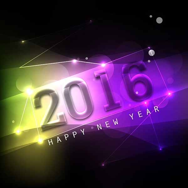 Colorful Happy New Year Background