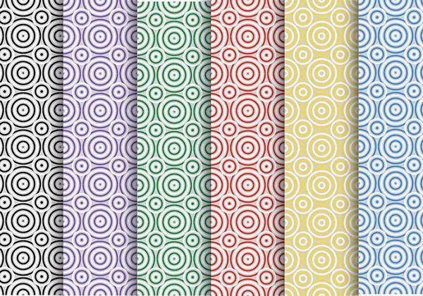 Creative Circles Vector Patterns