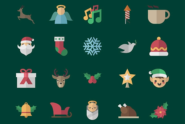 Cute-Christmas-icons-pack