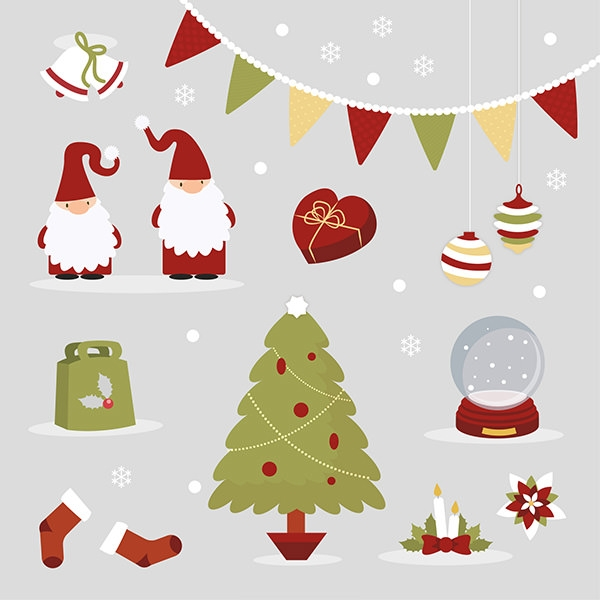 Cute and Beautiful Christmas Elements