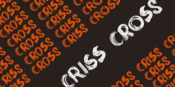 DK criss cross font