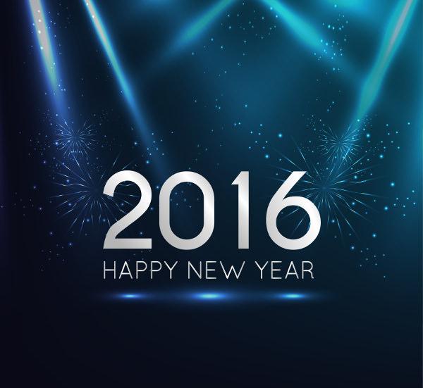 dark blue new year background