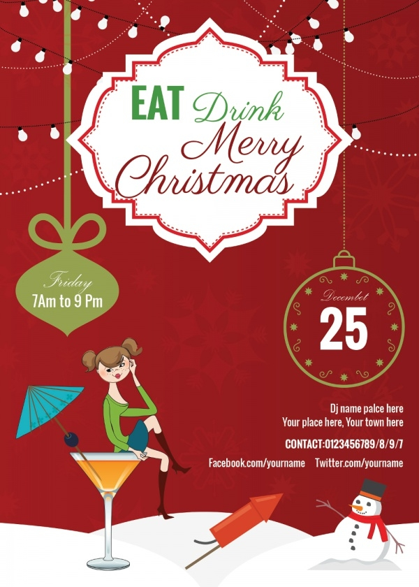 Eat & Drink Merry Invitation Card