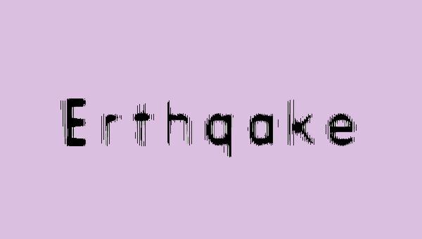 Erthqake-Font