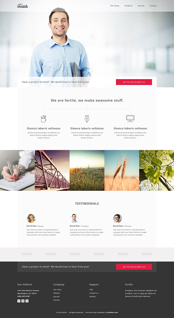 Fertile-psd-portfolio-template