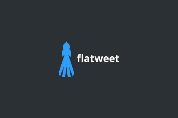 flatweet logo design