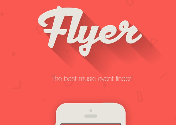 flyer app logo design