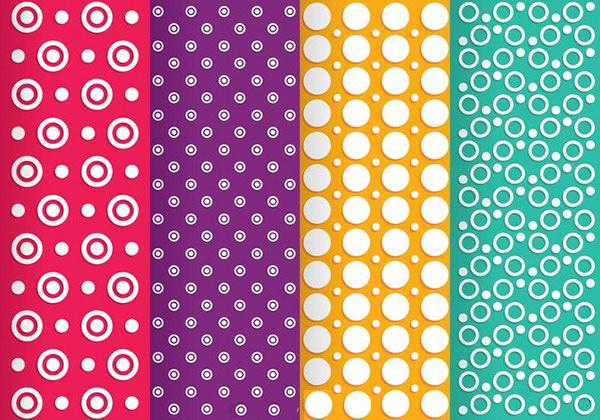 Free Vector Circle Line Dot Patterns