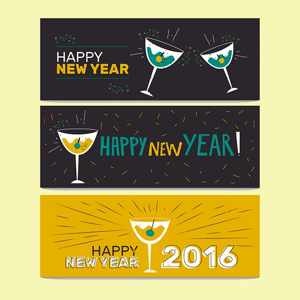 Free-Vector-New-Year-Party-Banners