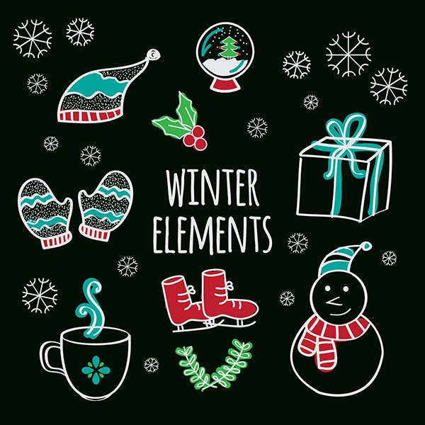 Free vector Winter Elements