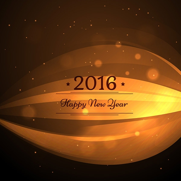 Golden Card of New Year 2016