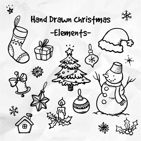 Hand Drawn Christmas Elements
