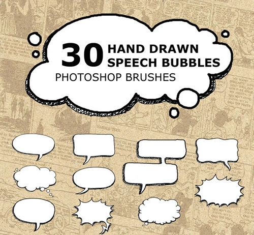 Hand-Drawn-Speech-Bubbles-Brushes