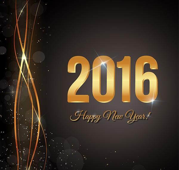 happy new year black background