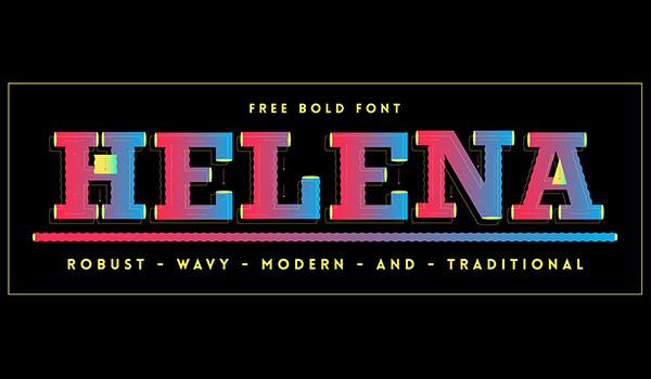 Helena free bold font
