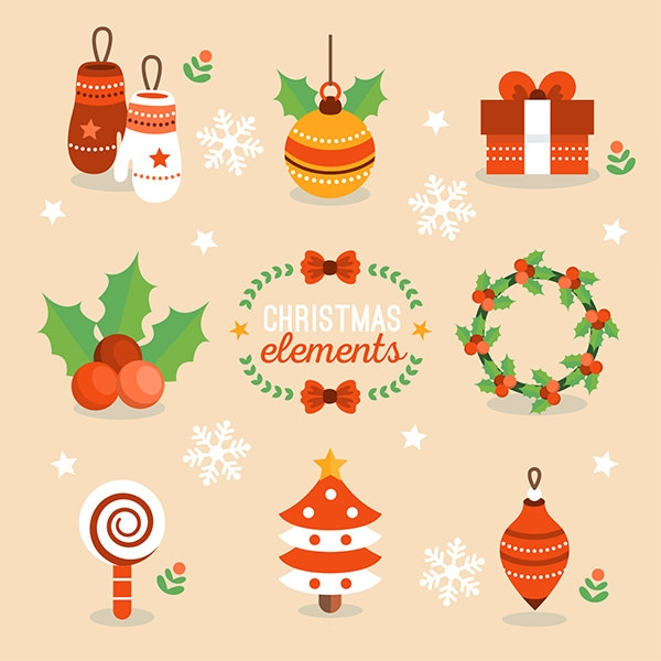 lovely christmas elements