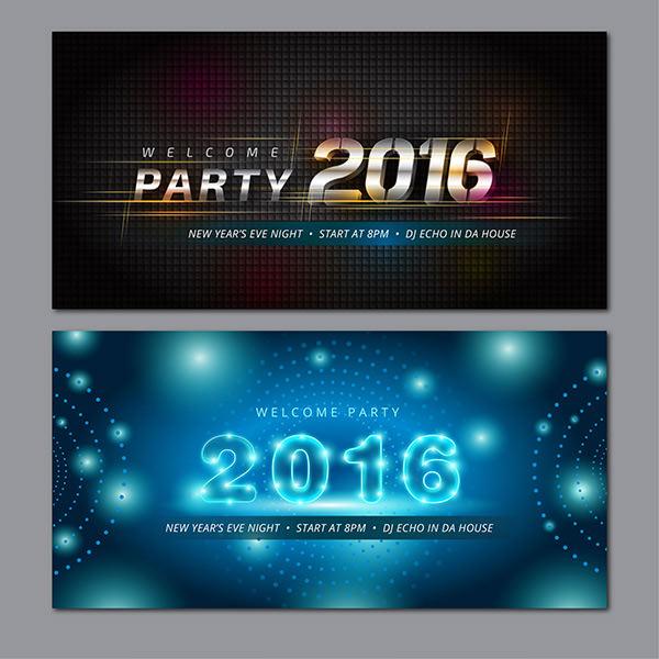 Modern 2016 banners