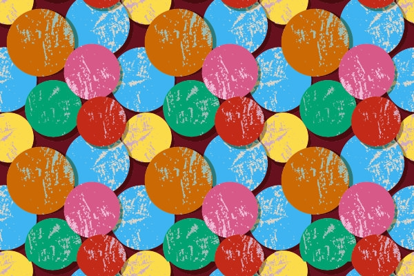 Multi Color Free Vector Grunge Circles Pattern