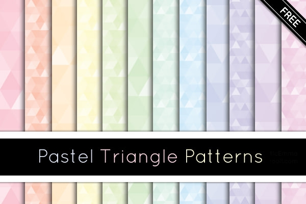 Pastel-Triangle-Patterns-Preview