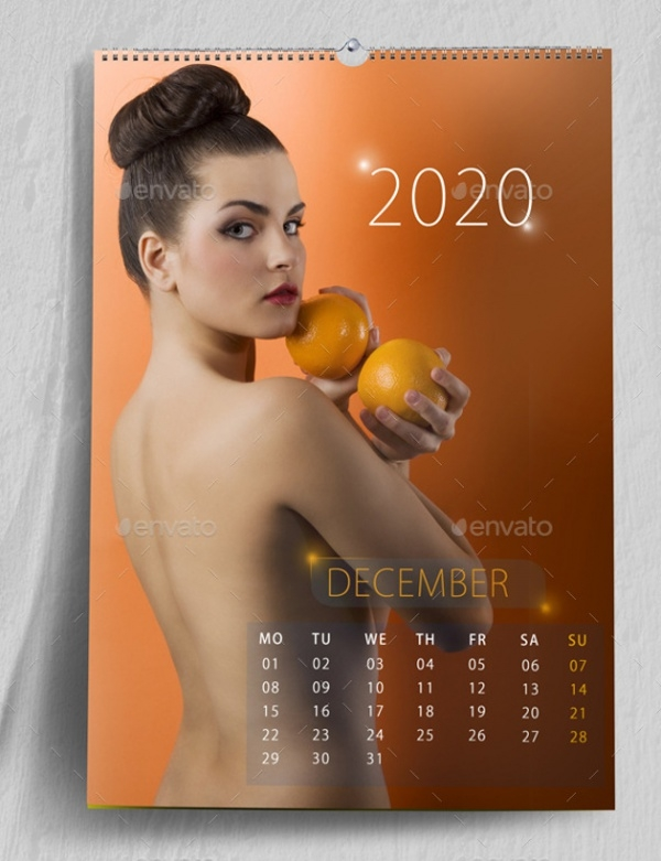 Photo realistic Wall Calendar Mockup