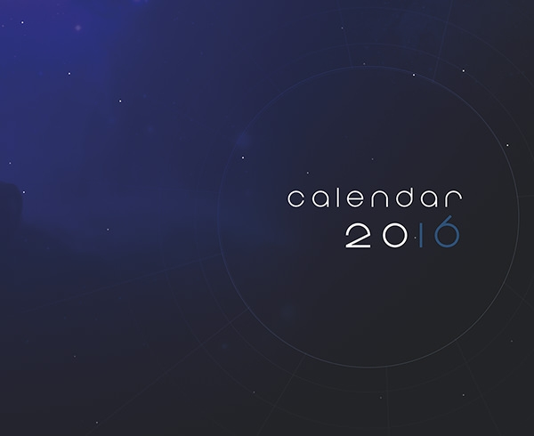 planets calendar designs for inspiration