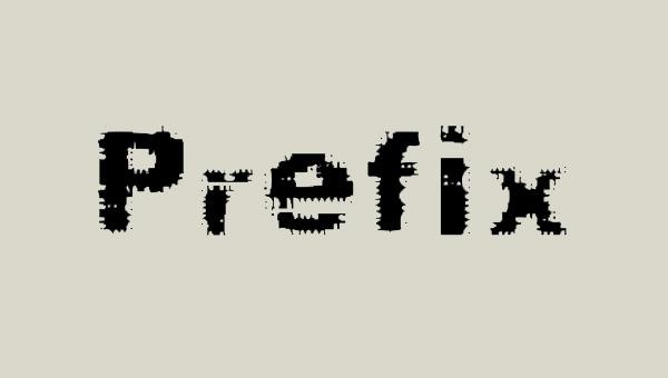 Prefix-Font