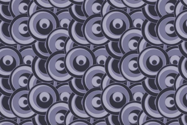 Purple Funky Circles Pattern