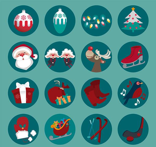 Round-Christmas-icons