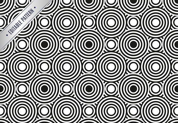 Seamless Black and White Circles Pattern