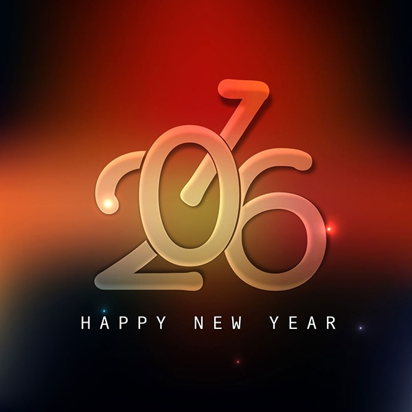 Shiny Background of New Year Greeting Car Design