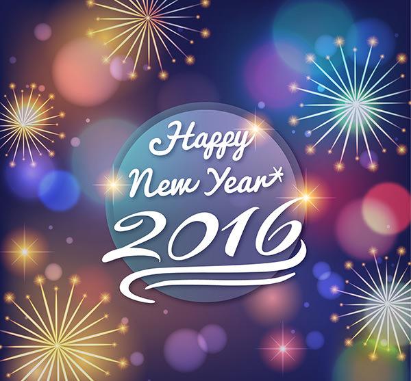 stunning happy new year backgrund with fireworks