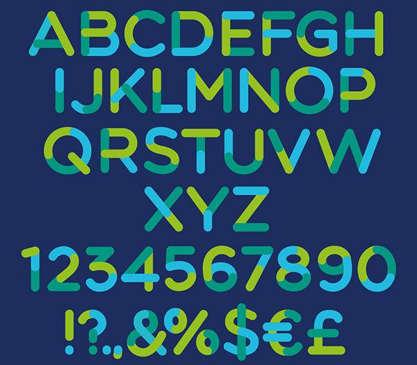 Tricolor-font