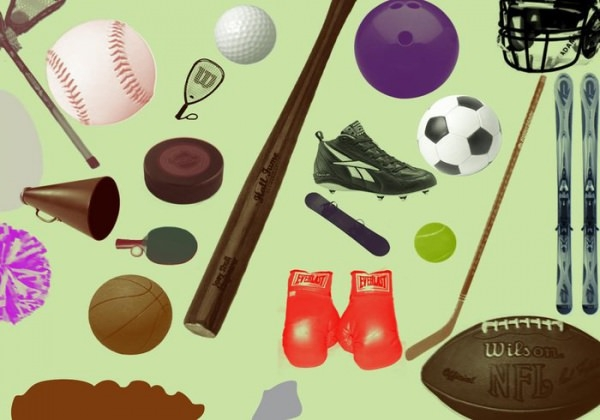 Various Sports Objects Photoshop Brushes
