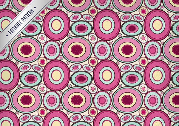 Vector Pattern with Abstract Circles