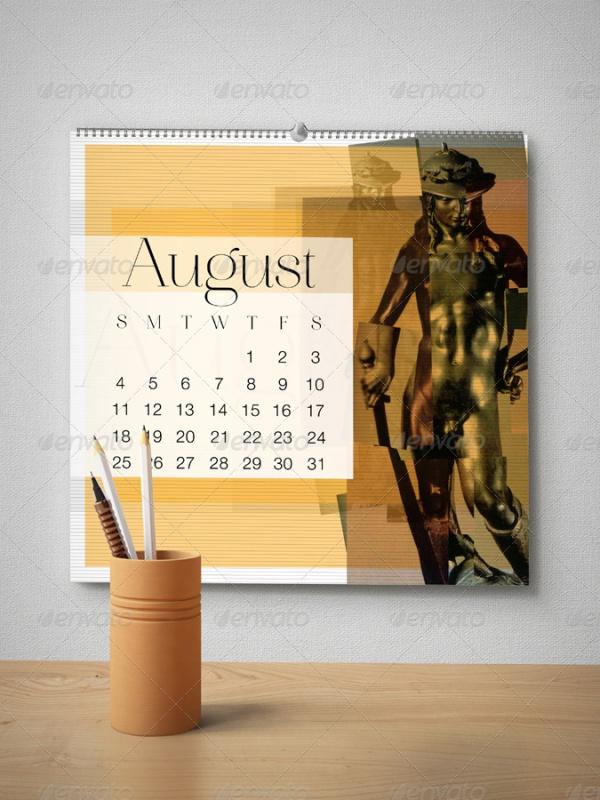 Wall Calendar Mockup Pack