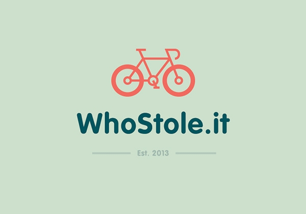 WhoStole .It Flat Logo Design