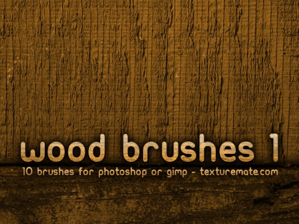 Wood Brushes pack for photoshop