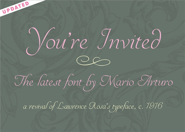 Yourinvited font