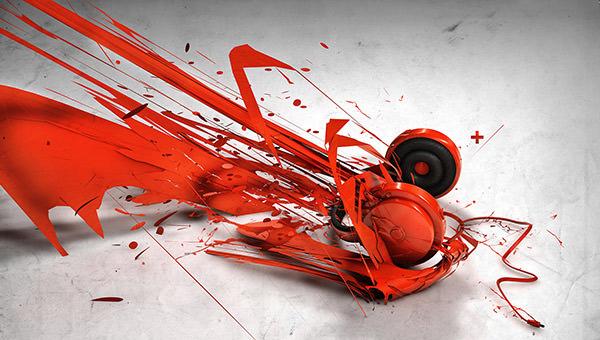 abstract music headphones1