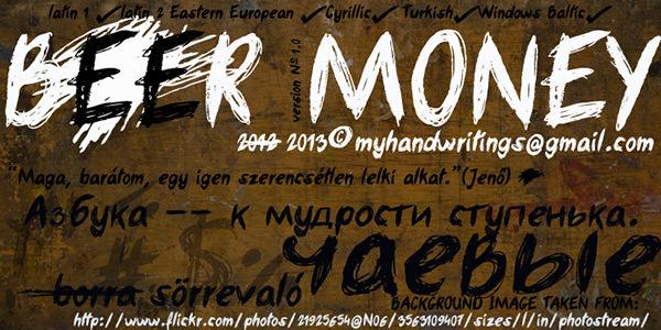 beer_money font