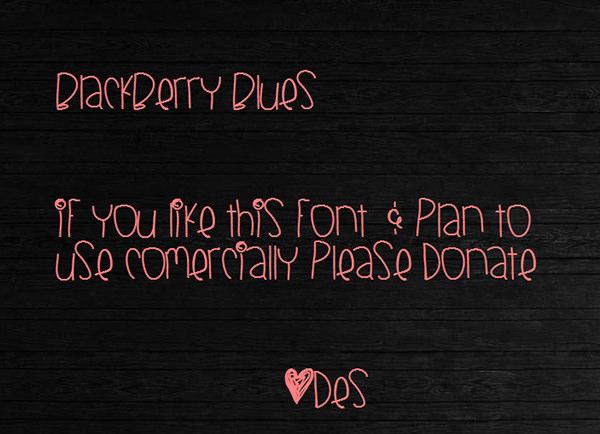 black berry blues font
