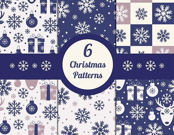 blue snowflakes christmas patterns