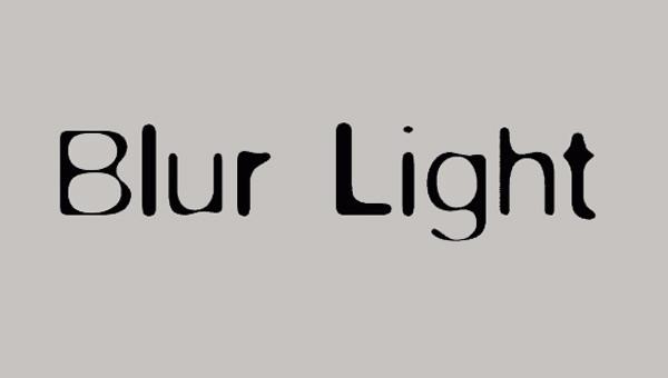 blur_light_font