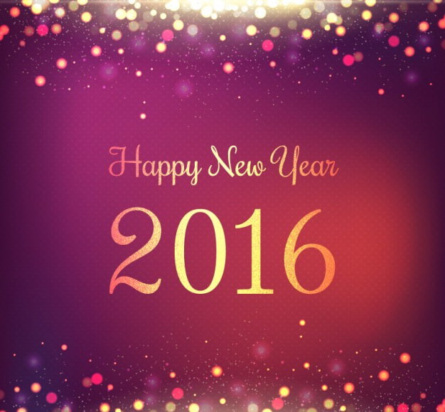 bright new year background in purple color