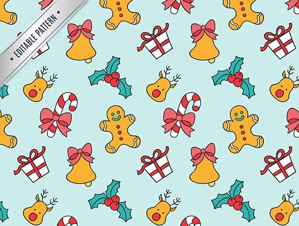 christmas colorful cartoon pattern