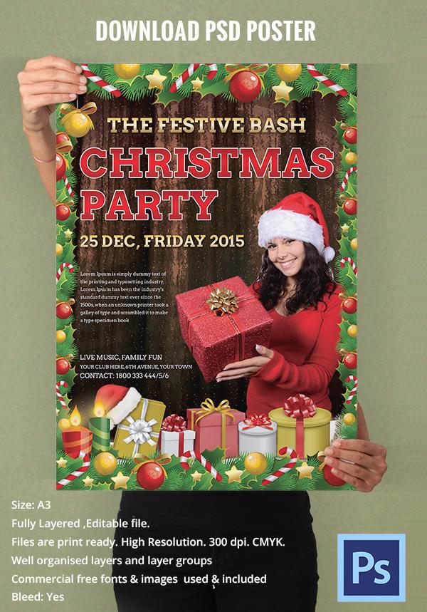 christmas festive poster design