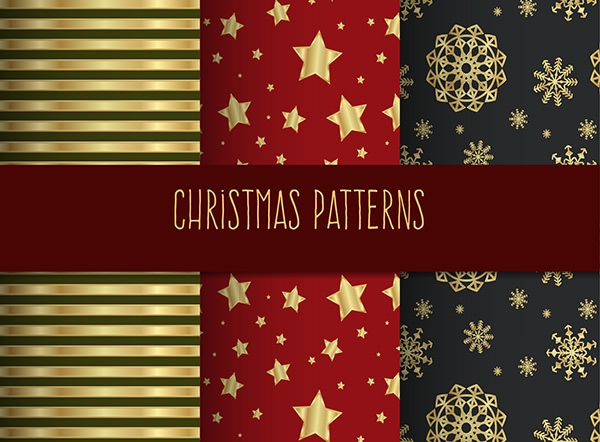 christmas golden patterns